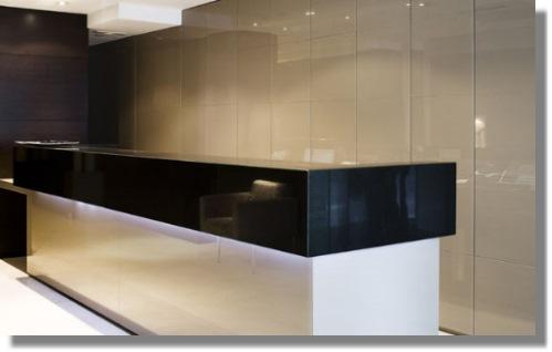 Coloured glass glasscentre ltd for Back painted glass design